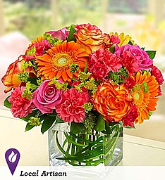 Sunset Passion Vase Arrangement