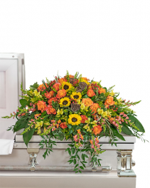 Sunset Reflections Casket Spray Sympathy