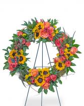 Sunset Reflections Wreath Sympathy Arrangement
