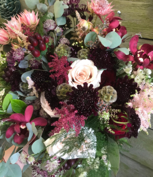 Warm Autumn  Vase Arrangement in Northport, NY | Hengstenberg's Florist
