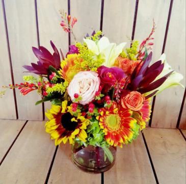 Sunset Sunflowers vase arrangement