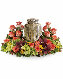 Sunset Urn Wreath Cremation Arrangement