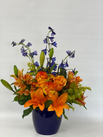 Sunset Vase arrangement