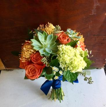 Sunset Wedding hand tied Bouquet