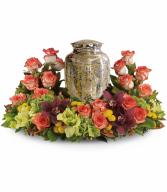 Sunset Wreath Funeral Arrangement