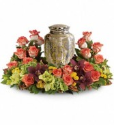 Sunset Wreath Memorial Urn Surround