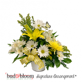 *SOLD OUT* Sunshine and Butterflies Bud & Bloom Signature Arrangement