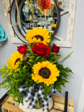 Sunshine and Love  Sunflowers and Roses