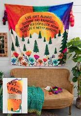 Sunshine and Rainbows fleece blanket