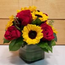Sunshine and Roses Cube Arrangement