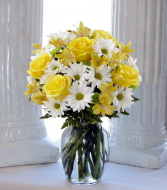 Sunshine and Roses Vase arrangement