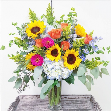 Sunshine and Smiles Vase Arrangement