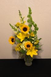 Sunshine and Sunflowers Vase Arrangement