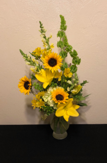 Sunshine and Sunflowers Vase Arrangement