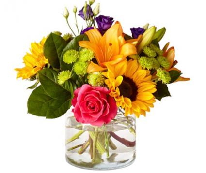 Sunshine Blooms  Vase