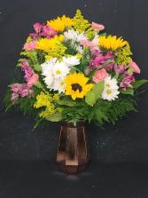 Sunshine Brightness  Fresh Flower Arrangement (Local Delivery Only)