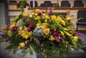 Sunshine Casket Spray Casket Spray in Dothan, AL   Flowers of Hope