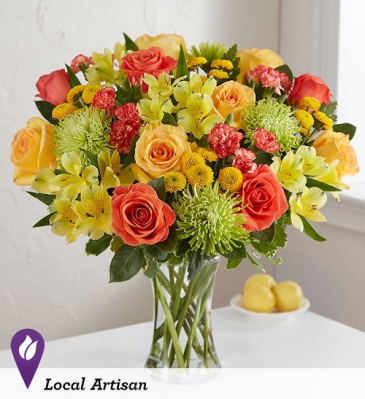 sunshine citrus floral arrangement