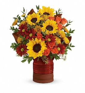 Sunshine Crock Teleflora 2 Gifts In One in Springfield, IL | FLOWERS BY MARY LOU INC