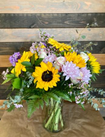 Sunshine day!  Fresh flower arrangement
