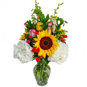Sunshine Delight Vase arrangement. in Coral Springs, FL | Hearts & Flowers of Coral Springs