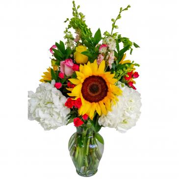 Sunshine Delight Vase arrangement.