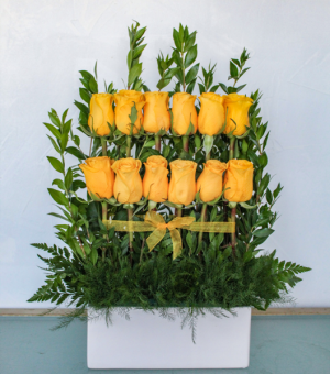 Sunshine Rose Wall in Biloxi, MS | Rose's Florist