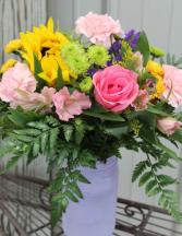 Sunshine Flowers Fresh Flower Vase