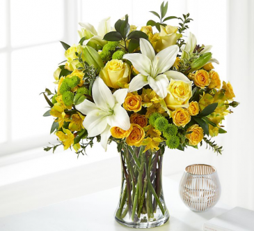 Sunshine  Fresh arrangement in a vase