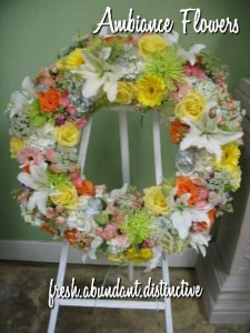 Sunshine Garden Wreath