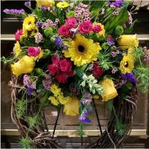 Sunshine Garden Wreath Wreath