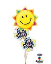 Sunshine Get Well Soon Balloon Bouquet