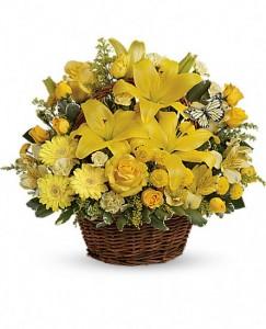 Sunshine happy flower Basket Spring Flower Basket