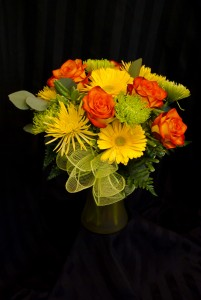 Sunshine in a Vase Fresh cut arrangement