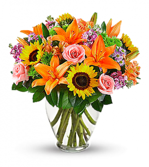 Sunshine Kisses Arrangement in San Bernardino, CA | INLAND BOUQUET FLORIST