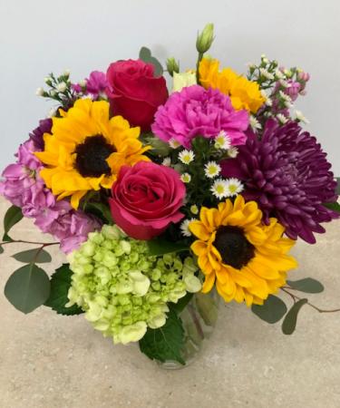 Sunshine of My Love Bouquet Vase Arrangement