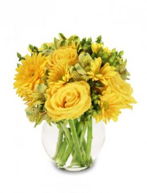 Sunshine Perfection Floral Arrangement in Michigan City, IN | WRIGHT'S FLOWERS AND GIFTS INC.
