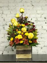 sunshine rose box  in Murfreesboro, Tennessee | Veda's Flowers & Gifts