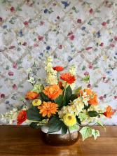 Sunshine Silk Flowers Artificial Arrangement