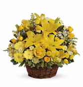 Sunshine Smiles Basket Arrangement
