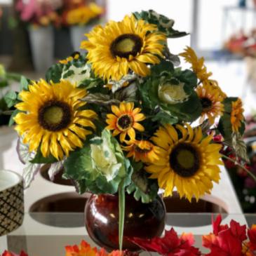 Sunshine & Sunflowers Silk Floral Arrangement