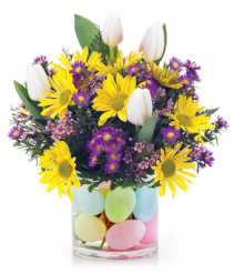 Sunshine, Tulips, Easter Eggs, Oh My! easter