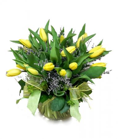 Bountiful Tulips Vase arrangement