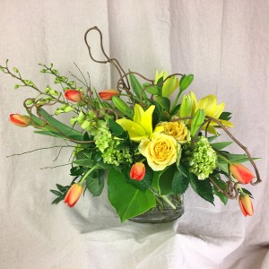 Sunshine! Vased Arrangement Modern