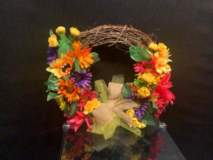 Sunshine Wreath Silk Wreath