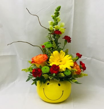 Sunshiney Happy Face  Fresh Arrangement