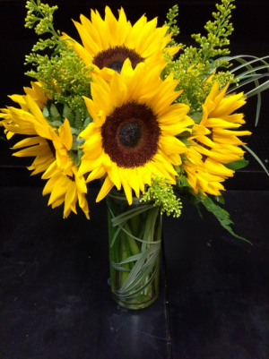 Sunshiny Day BEST SELLER! Vase arrangement in Sunrise, FL | FLORIST24HRS.COM