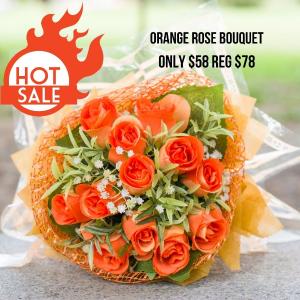Super Sale Orange rose Bouquet in Abbotsford, BC | BUCKETS FRESH FLOWER MARKET INC.