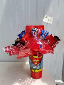 Superman Candy Bouquet