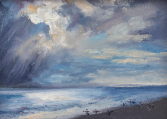 Surfers Late Afternoon ORIGINAL OIL BY NINA FRITZ